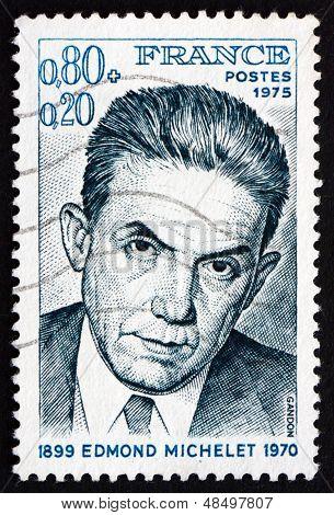 Postage Stamp France 1975 Edmond Michelet, Resistance Hero