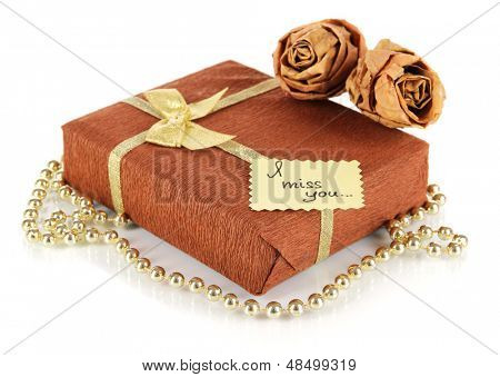 Romantic parcel isolated on white