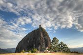 stock photo of medellin  - Penol rock in Antioquia - JPG