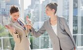 Businesswomen having a dispute in a bright office
