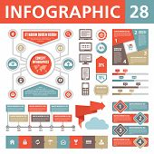 picture of origami  - A set of conceptual elements to create your infographics - JPG