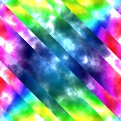 stock photo of psychodelic  - Multicolor psychodelic abstract pattern - JPG