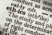 image of ethics  - Dictionary definition of the word  - JPG