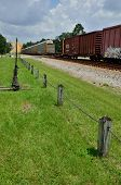 picture of railcar  - A train passes through the popular train watching town of Folkston Georgia - JPG