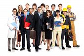stock photo of people work  - Business people builders nurses doctors architect - JPG