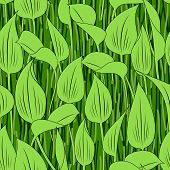 seamless grass bog leaf background