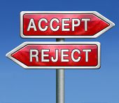 pic of proposal  - accept or refuse offer proposal or invitation - JPG