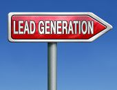 lead generation internet marketing for online market ecommerce sales red road sign arrow
