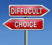 difficult choice or decision when you can't choose being doubtful or in doubt because of confusion y