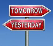 yesterday or tomorrow past or future