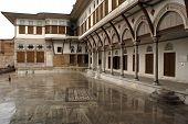pic of eunuch  - Wet inner yard in Harem Topkapi palace Istanbul - JPG