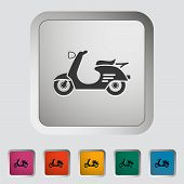stock photo of vespa  - Scooter - JPG