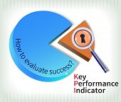 stock photo of performance evaluation  - Key performance indicator is used to measure performance  - JPG