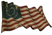 picture of civil war flags  - Illustration of an aged waving American civil war Union  - JPG