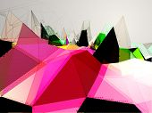image of triangular pyramids  - Triangles vector background - JPG