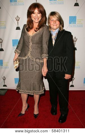 LOS ANGELES - NOVEMBER 1: Mary McDonnell with her son Michael Mell at the 2006 Women's Image Network Gala Honoring Senator Barbara Boxer at Wadsworth Theater on November 1, 2006 in Los Angeles, CA.