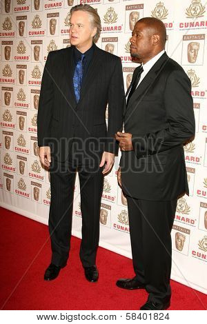 LOS ANGELES - NOVEMBER 2: Tim Robbins and Forest Whitaker at the 2005 BAFTA/LA Cunard Britannia Awards at Hyatt Regency Century Plaza Hotel on November 2, 2006 in Century City, CA.
