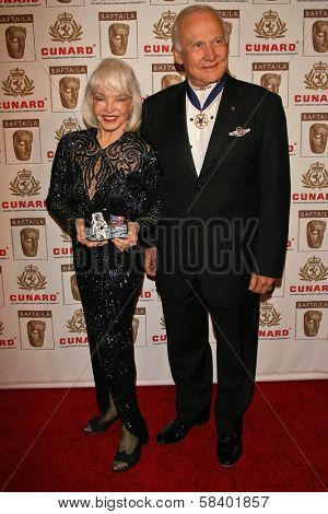 LOS ANGELES - NOVEMBER 2: Buzz Aldrin and wife Lois at the 2005 BAFTA/LA Cunard Britannia Awards at Hyatt Regency Century Plaza Hotel on November 2, 2006 in Century City, CA.