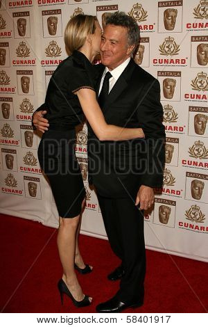 LOS ANGELES - NOVEMBER 2: Robin Wright Penn and Dustin Hoffman at the 2005 BAFTA/LA Cunard Britannia Awards at Hyatt Regency Century Plaza Hotel on November 2, 2006 in Century City, CA.