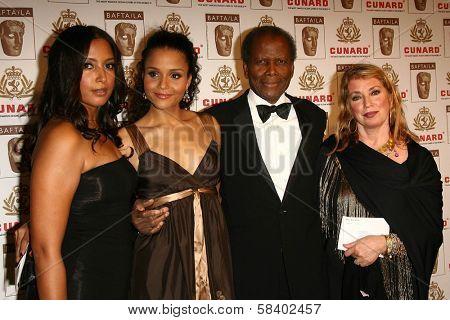 LOS ANGELES - NOVEMBER 2: Sidney Poitier and family at the 2005 BAFTA/LA Cunard Britannia Awards at Hyatt Regency Century Plaza Hotel on November 2, 2006 in Century City, CA.