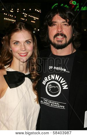 LOS ANGELES - NOVEMBER 09: Jordyn Blum and Dave Grohl at the Los Angeles Premiere of