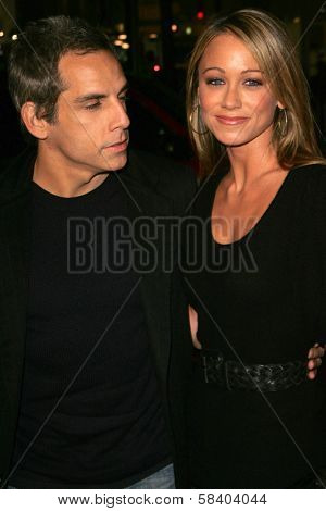 LOS ANGELES - NOVEMBER 09: Ben Stiller and Christine Taylor at the Los Angeles Premiere of