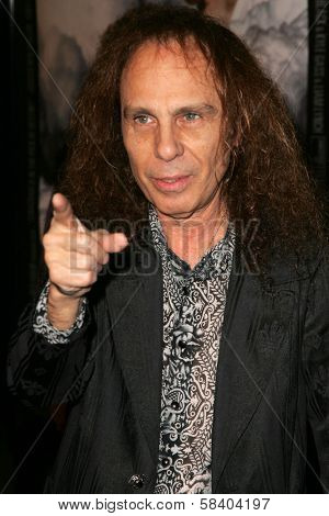 LOS ANGELES - NOVEMBER 09: Ronnie James Dio at the Los Angeles Premiere of