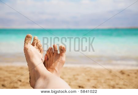 Relaxing On The Beach