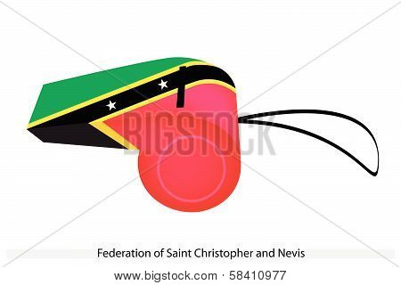 A Whistle Of Federation Of Saint Kitts And Nevis
