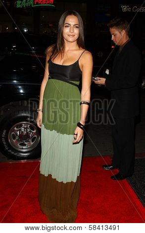 HOLLYWOOD - DECEMBER 06: Camilla Belle at the premiere of