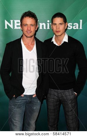 David Lyons, J.D. Pardo at NBC Universal's