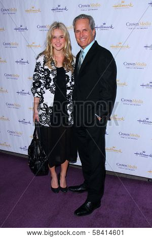 Gregory Harrison and daughter Lily Harrison at the Hallmark Channel and Hallmark Movie Channel Winter 2013 TCA Gala, Huntington Library and Gardens, San Marino, CA 01-04-13