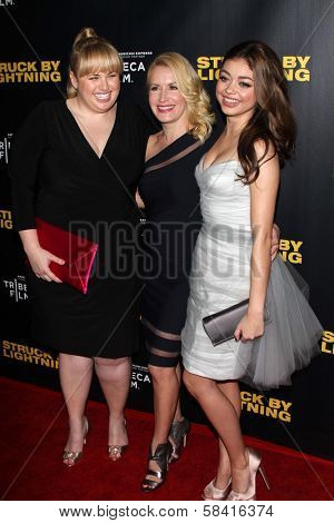 Rebel Wilson, Angela Kinsley and Sarah Hyland at the