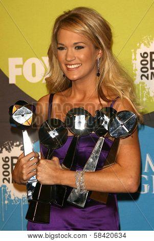 LAS VEGAS - DECEMBER 04: Carrie Underwood in the press room at the 2006 Billboard Music Awards, MGM Grand Hotel December 04, 2006 in Las Vegas, NV