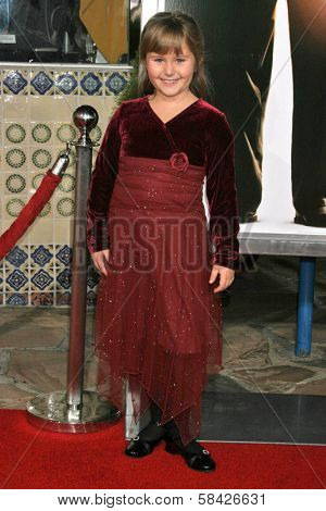 WESTWOOD, CA - DECEMBER 07: Ada-nicole Sanger at the premiere of