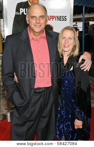WESTWOOD, CA - DECEMBER 07: Kurt Fuller and Jessica Hendra at the premiere of