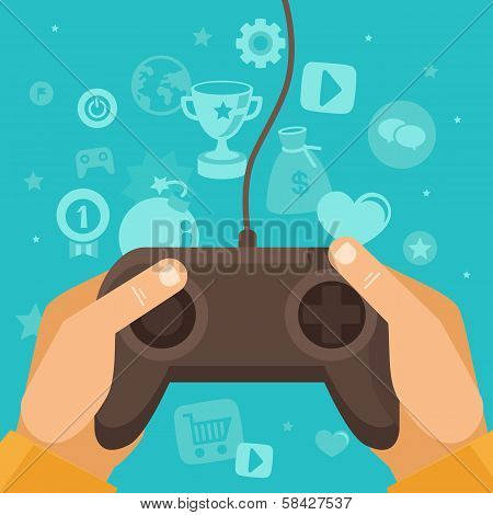 Vector Online Game Concept