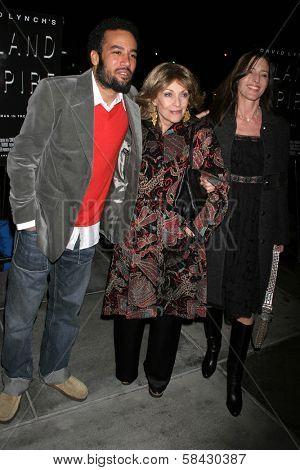 LOS ANGELES - DECEMBER 09: Ben Harper with Veronique Passani and Cecilia Peck at the Los Angeles Premiere of Inland Empire at LACMA December 09, 2006 in Los Angeles, CA.