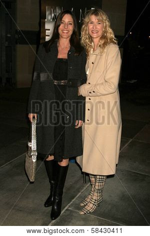 LOS ANGELES - DECEMBER 09: Cecilia Peck and Laura Dern at the Los Angeles Premiere of Inland Empire at LACMA December 09, 2006 in Los Angeles, CA.