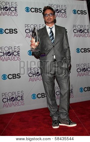 Robert Downey Jr. at the 2013 People's Choice Awards Press Room, Nokia Theatre, Los Angeles, CA 01-09-13