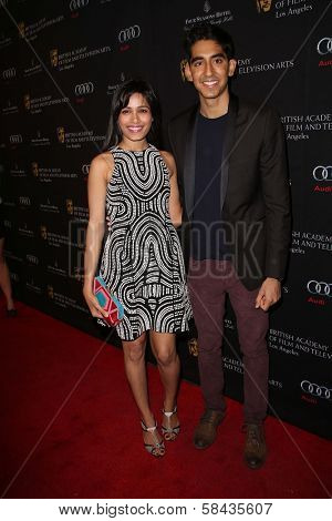 Freida Pinto and boyfriend Dev Patel at the BAFTA Los Angeles 2013 Awards Season Tea Party, Four Seasons Hotel, Los Angeles, CA 01-12-13