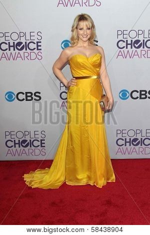 Melissa Rauch at the 2013 People's Choice Awards Arrivals, Nokia Theater, Los Angeles, CA 01-09-13