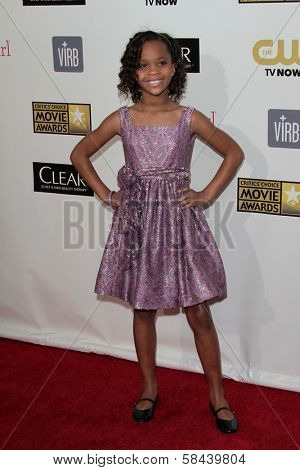 Quvenzhane Wallis at the 18th Annual Critics' Choice Movie Awards Arrivals, Barker Hangar, Santa Monica, CA 01-10-13