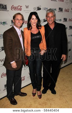 Bart Conner, Nadia Comaneci, Greg Louganis  at the Gold Meets Golden Event, Equinox West LA, Los Angeles, CA 01-12-13