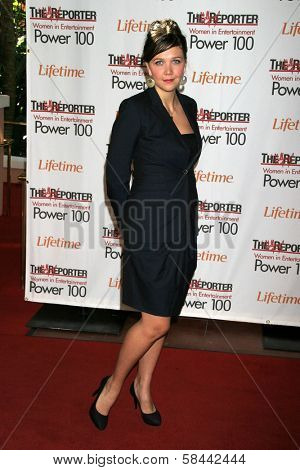 LOS ANGELES - DECEMBER 05: Maggie Gyllenhaal at the 15th Annual The Hollywood Reporter's 2006 Women In Entertainment Power 100 at Beverly Hills Hotel December 05, 2006 in Beverly Hills, CA.