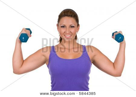Woman Pumping Iron