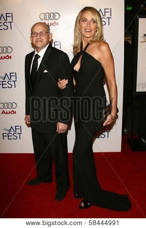 Sharon Stone and guest at the AFI Fest 2006 Opening Night Premiere of