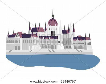 Budapest Parliament Vector Illustration
