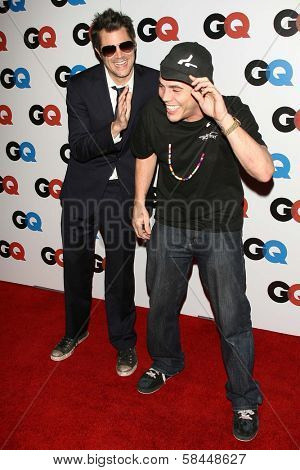 LOS ANGELES - NOVEMBER 29: Johnny Knoxville and Steve-O at the GQ Man of the Year Awards at Sunset Tower Hotel November 29, 2006 in Los Angeles, CA.