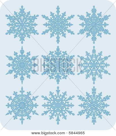 Set of snowflakes nr2
